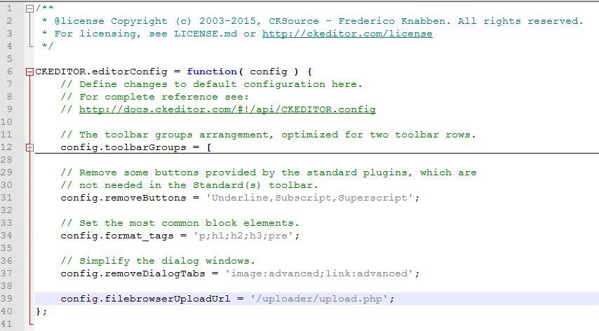 Plugins for CKEditor › Tutorial CKEditor - Subida de ficheros